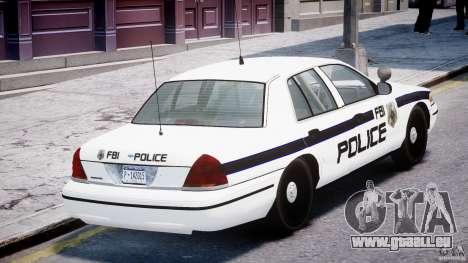 Ford Crown Victoria FBI Police 2003 pour GTA 4 est une vue de dessous