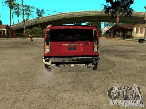 Hummer H2 Diablo für GTA San Andreas rechten Ansicht