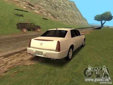Cadillac DTS 2010 pour GTA San Andreas laissé vue