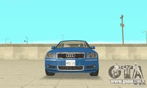 Audi A8L 4.2 FSI pour GTA San Andreas salon