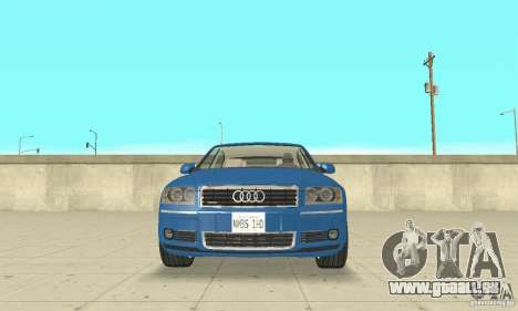 Audi A8L 4.2 FSI für GTA San Andreas Innen