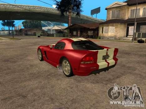 Dodge Viper für GTA San Andreas linke Ansicht