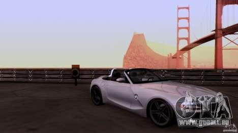 BMW Z4 V10 pour GTA San Andreas vue intérieure