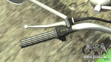 Kawasaki Z1000A1 für GTA 4 Innenansicht
