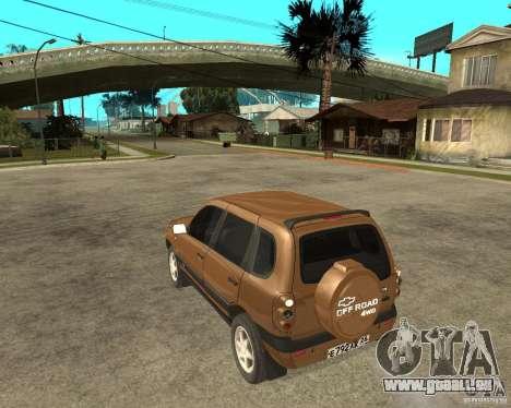 CHEVROLET NIVA Version 2.0 für GTA San Andreas linke Ansicht
