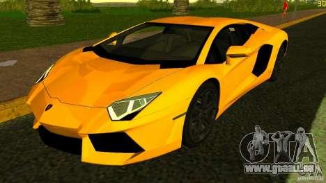 Lamborghini Aventador LP 700-4 pour une vue GTA Vice City de l'intérieur