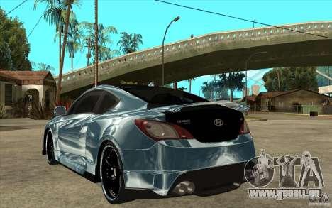 Hyundai Genesis Tuning für GTA San Andreas zurück linke Ansicht