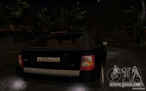 Land Rover Range Rover pour GTA San Andreas vue de droite