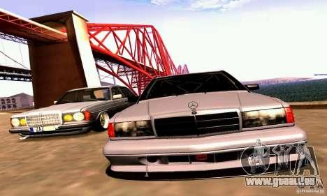 Mercedes-Benz 190E Drift pour GTA San Andreas vue intérieure