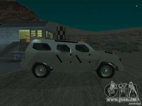 FBI Truck from Fast Five pour GTA San Andreas laissé vue