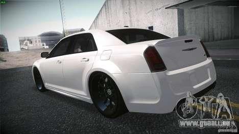 Chrysler 300 SRT8 2012 für GTA San Andreas Rückansicht