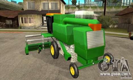 Combine Harvester Retextured pour GTA San Andreas sur la vue arrière gauche