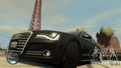 Audi A8 V8 FSI für GTA 4 Seitenansicht
