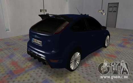 Ford Focus RS für GTA San Andreas zurück linke Ansicht