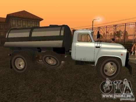 GAZ 53 Kit de finition pour GTA San Andreas laissé vue