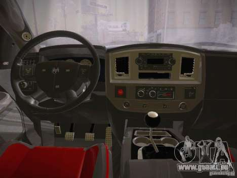 Dodge Ram SRT-10 für GTA San Andreas Rückansicht