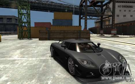 Koenigsegg CCXR Edition V1.0 pour GTA 4 Vue arrière