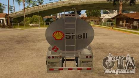 Auflieger tank für GTA San Andreas rechten Ansicht