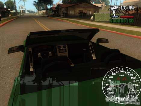 Cadillac XLR pour GTA San Andreas vue de dessus