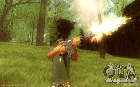 Kalashnikov HD pour GTA San Andreas troisième écran