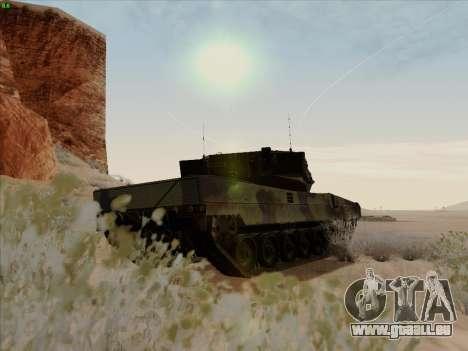 Leopard 2A6 pour GTA San Andreas vue de droite