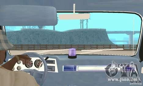 Chevrolet Suburban FBI 1986 pour GTA San Andreas vue intérieure
