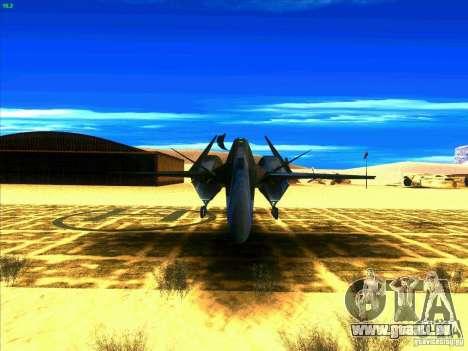 ADF-01 Falken pour GTA San Andreas vue arrière