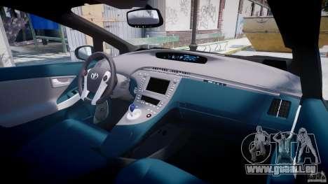 Toyota Prius 2011 PHEV Concept für GTA 4 obere Ansicht
