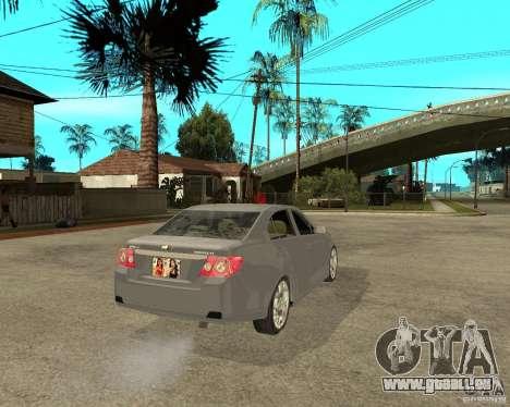 Cheverolet Epica pour GTA San Andreas sur la vue arrière gauche