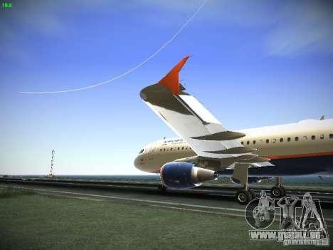 Aeroflot Russian Airlines Airbus A320 für GTA San Andreas linke Ansicht