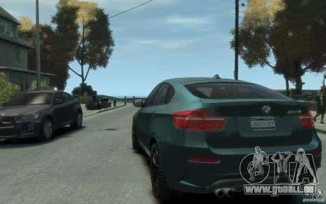 BMW X6-M 2010 für GTA 4 hinten links Ansicht