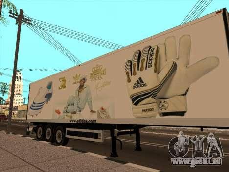 Remorque Adidas pour GTA San Andreas vue de dessus