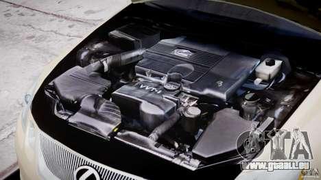 Lexus GS450 2006 Limousine pour GTA 4 vue de dessus