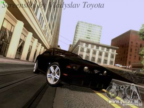 Ford Mustang GT 2011 Unmarked pour GTA San Andreas