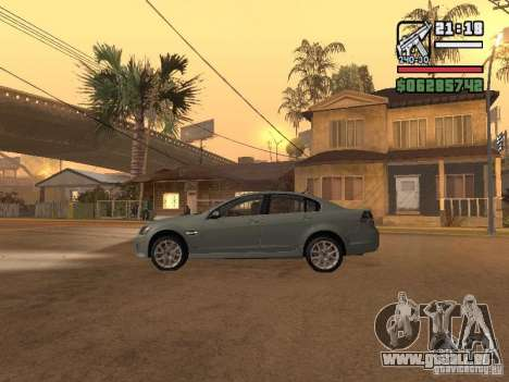 Pontiac G8 GXP für GTA San Andreas linke Ansicht