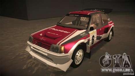 Peugeot 205 T16 pour GTA San Andreas moteur