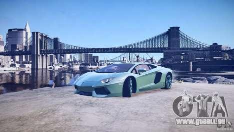 Lamborghini Aventador LP700-4 v1.0 pour GTA 4 roues