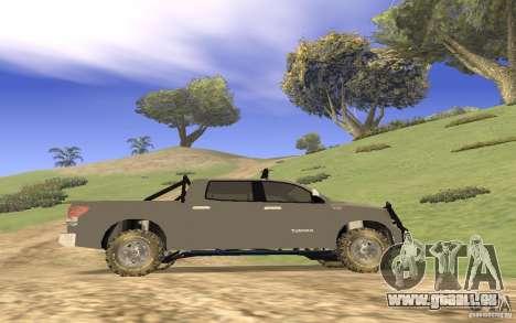 Toyota Tundra 4x4 für GTA San Andreas Innenansicht