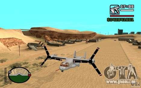 Bell V-22 Osprey für GTA San Andreas