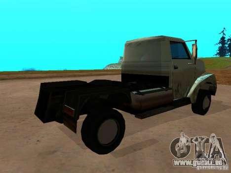 Yankee Truck pour GTA San Andreas sur la vue arrière gauche