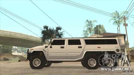 Hummer H6 für GTA San Andreas linke Ansicht