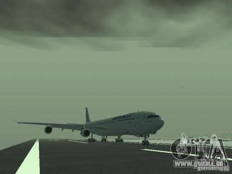 Airbus A340-300 Air France für GTA San Andreas linke Ansicht