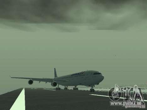 Airbus A340-300 Air France für GTA San Andreas linke Ansicht
