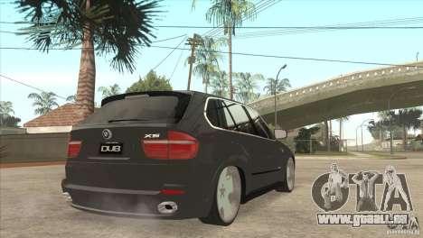 BMW X5 dubstore pour GTA San Andreas vue de droite
