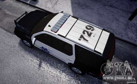 Cadillac Escalade Police V2.0 Final für GTA 4 Rückansicht