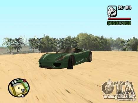 Porsche 918 Spyder für GTA San Andreas