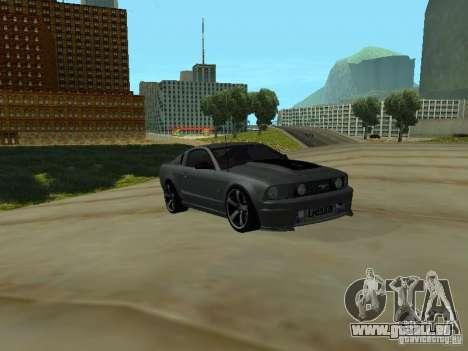 Ford Mustang GTS pour GTA San Andreas laissé vue