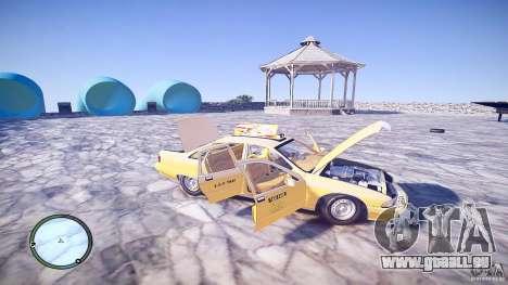 Chevrolet Caprice Taxi pour GTA 4 vue de dessus