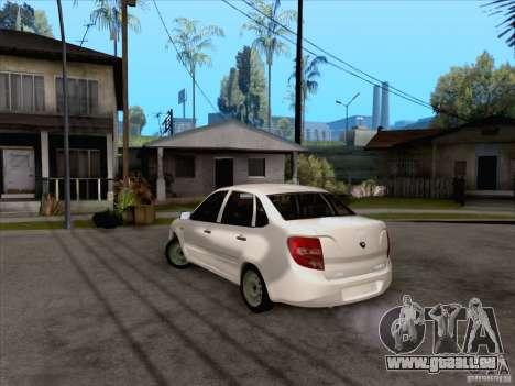 Stock concession LADA pour GTA San Andreas sur la vue arrière gauche