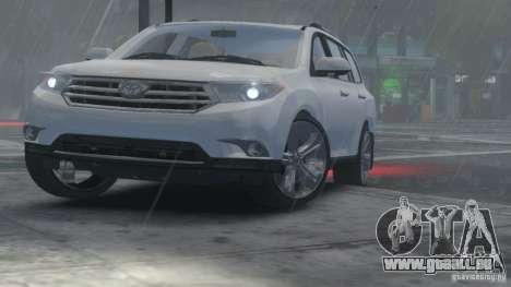 Toyota Highlander 2012 v2.0 pour GTA 4 Vue arrière